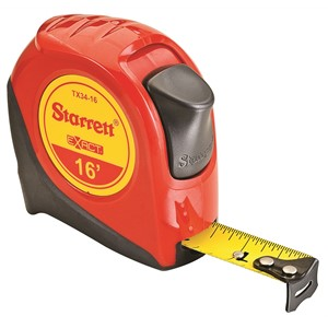 "Picture of KTX34-16-N Starrett Exact Tape Measure,3/4""x16',English"