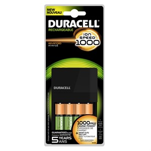 Picture of CEF14 Duracell-i1000 CHARGER,6-8 hrs. Charge,1 charger and 4 AA NiMH batteries