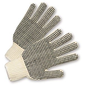 Picture of 708SK West Chester Mens String Knit Dots 1 Side Glove - Standard