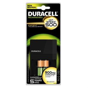 Picture of CEF7 Duracell-i500 CHARGER,Charge 8-14 hrs.,includes/1 charger and 2 AA NiMH batteries